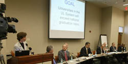 UL System Presidents answer questions about strategies for meeting the graduation rate goal.